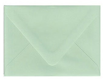 "10 Spearmint Mint Green A6 Envelopes 4 3/4"" x 6 1/2"""