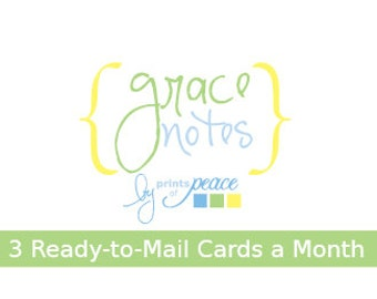 Receive 3 Ready-to-Mail Blank Inspirational Cards with Beautiful Photography each Month in the Mail