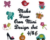 Make your own Mini Design Filled Stitch Set Machine Embroidery Designs