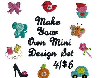 Make your own Mini Design Filled Stitch Set Machine Embroidery Designs