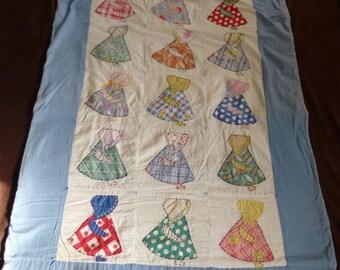 Small Quilt Vintage Sunbonnet Sue
