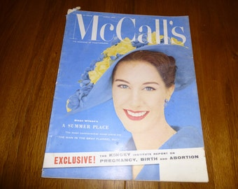 Magazine Vintage McCall's March 1958 Great Ads, Articles, Fashion, Recipes, Home Decor and Betsy McCall Paper Doll