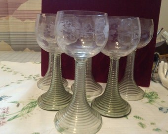 REDUCED  5 Greman First Wine Goblet
