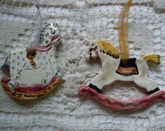 Ceramic Ornaments -rocking horses