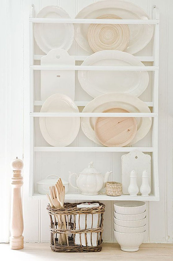plate rack plate holder wall mounted plate shelf. Black Bedroom Furniture Sets. Home Design Ideas