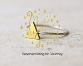 Reserved listing for Courtney - 2 Triangle rings - sizes 7 and 8,5 US