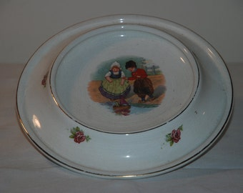 Antique Porcelain Royal Baby-Plate Dish - 1905