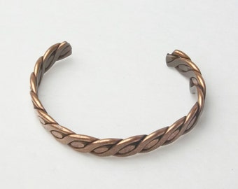 Solid Copper Flat Weave Vintage Bangle Bracelet Costume Jewelry on Etsy