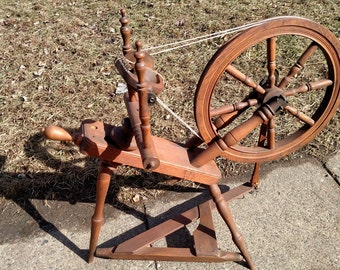 Information Only * * * Antique Spinning Wheels - Repairs Still Needed