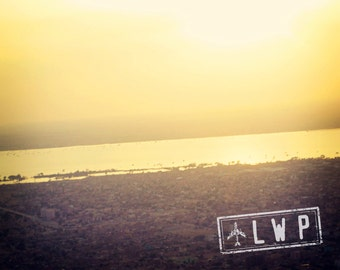 Breathe, International Travel, Khartoum Republic of Sudan Landscape, Sunset From the Plane, Sudanese Decor 8x10 11x14 16x20 Photogra