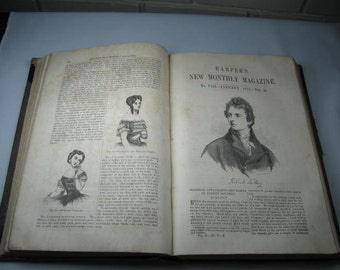 165 year old Harper's New Monthly Magazine Vol.II Part 1 December 1850