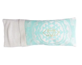Chakra / Third Eye / Sacred Geometry Organic Lavender eye pillow - Yoga tool, perfect for Savasana