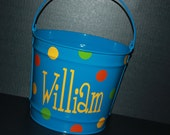 10 QUART Personalized Easter Bucket  - - - Assorted Colors/Designs