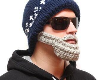 Fake beard hat - Bearded hats, knit Hats,  Beard beanie, beard head, beardhead, knitted beard, crochet beard hat, beanie beard, beard cap