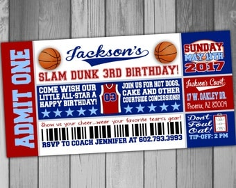 Basketball Birthday Invitation Boy Birthday Party Sports Birthday Invitation Basketball Invitation Basketball Party Invitation