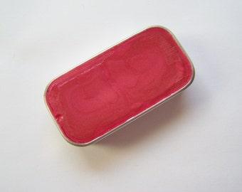 Zero Waste Vegan Lipstick - Coral Pearls Mineral Lip Color - Lipstick In A Tin - Vegan Mineral Makeup -  Cruelty Free Cosmetics
