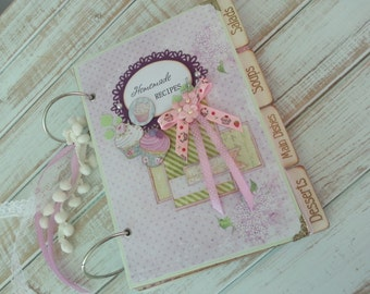 Handmade scrapbook album - home recipe book