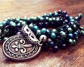 Mardi Gras Flavor: Versatile crocheted necklace / bracelet / belt / headband