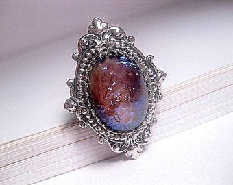 Tanzanite Ring - Tanzanite Opal Ring - Purple Dragons Breath