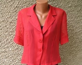 ON SALE: Vintage Sheer Fitted Blouse, L-Xl