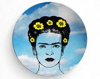 Home Decor Frida Kahlo, Frida kahlo, wall art, dinnerware, plate, Frida kahlo portrait