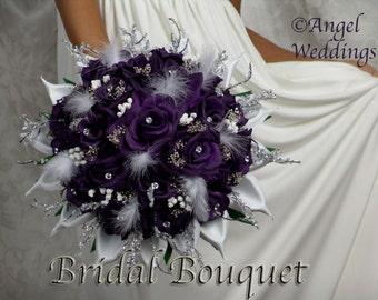 TIFFANY LAPIS Wedding Bouquet Bouquets Love Package Silk Flowers Arrangement Bouquets Custom Corsage Boutonnieres Groom Bridesmaids Keepsake