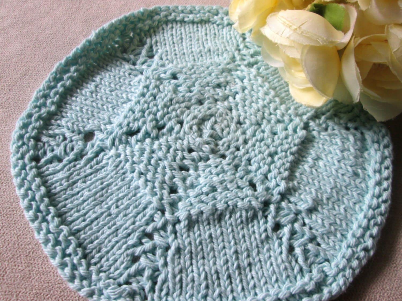 Round Knitted Dishcloth Patterns : Round Dishcloth Knitting Pattern Circular Dishcloth Knitting
