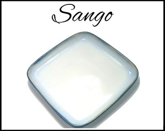 Sango Salad Plate, Pristine Sapphire, 7 Inch Plate, 7 Inches Square, Blue Porcelain, Replacement Plate, Replacement Sango, Vintage Sango