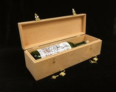 Unfinished Wooden Wine Box w/ Hinges & 2 Locks- Holds 1 Bottle of Wine-Wedding Ceremony Box-Wedding Gift-Housewarming Gift-Anniversary Gift