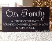 Painted on barn wood. Our Family. House warming gift. Birthday. Anniversary