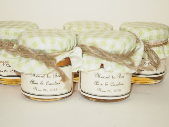 Great Wedding Gifts Under 100 : 100 Mini Mason Jar Wedding Favors, Light Green Gingham with a twine ...