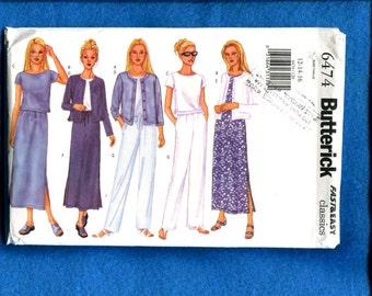 Butterick 6474 Easy Fitting Sportswear Wardrobe Pattern Sizes 12  14  16 UNCUT