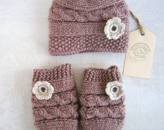 Baby Girl Hat and Leg Warmers,set Newborn Baby Girl,Photography Photo Prop Set ,Newborn Leg Warmers and Hat