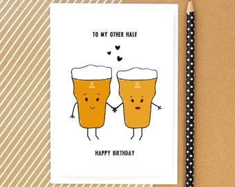 funny half birthday  etsy, Birthday card