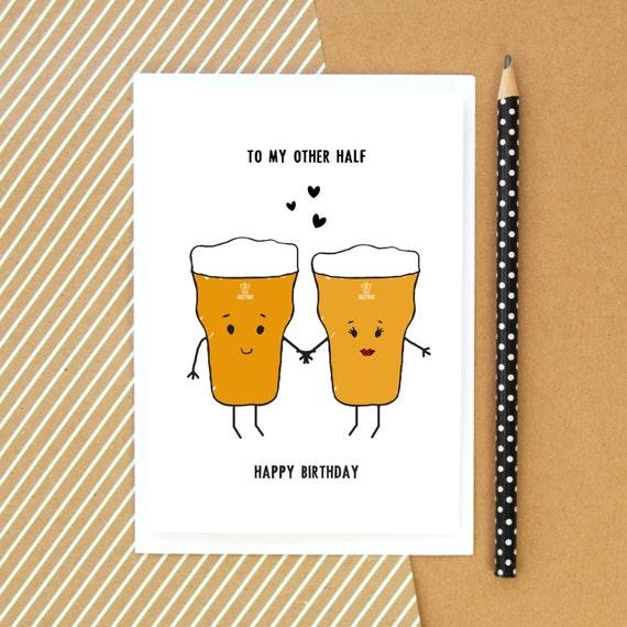 Beer Card Birthday Card Funny Card Beer Card for Him – Happy Birthday Card for Him