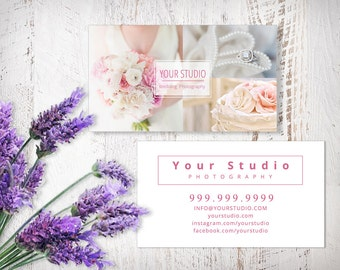 Business Card, Photoshop Business Card Templates, Marketing Template, Photography, Blush Wedding, BC401, INSTANT DOWNLOAD