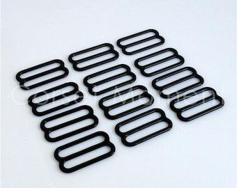 48 * Large Black Metal Bra Slide Suspender Regulator/Adjuster Garter Belt Supplies