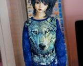 SD BOY Blue wolf shirt
