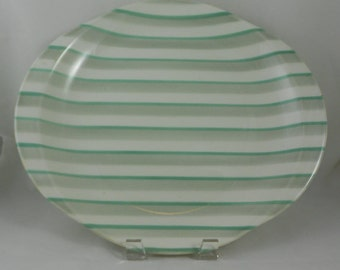 Mid Century 'Holiday' Platter By WS George Half Century Dinnerware Turquoise and Gray