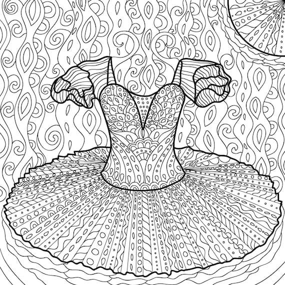 Printable Coloring Page Zentangle Dance Book