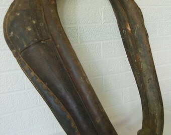 Antique Horsehair stuffed Leather Horse Collar