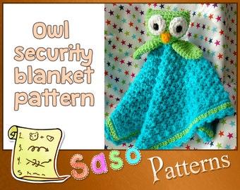 PATTERN - Owl security blanket crochet pattern