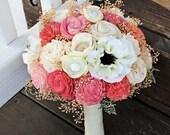 Ready to Ship! Alternative Bridal Bouquet, Anemone, Ranunculus, Silk Flowers, Sola Flowers, Spring Wedding, Summer Wedding,  Rustic Wedding