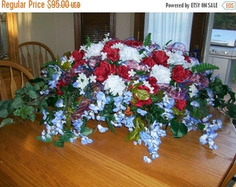 ON SALE Red White & Blue Patriotic Floral Spray