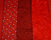 Fabric, Red Fabric, Fat Quarter,