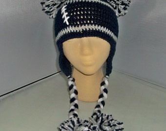 Women Sports Cheerleader beanie  Dallas Cowboys or any team, any size, any color