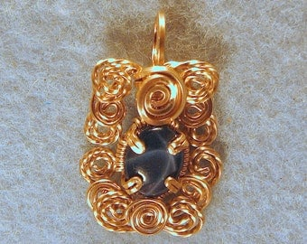 Star Sapphire in 14/20 Gold Filled Wire Wrapped Pendant Number 2 of 500