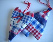 Christmas ornaments Fabric Tree and Heart Dutch colors