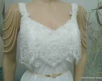 Bridal Shoulder Epaulettes Bridal Accessories By Mylittlebride