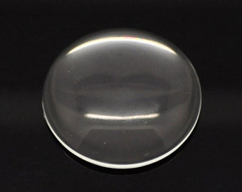 10 Cabochons 35mm - WHOLESALE - Flatbacks - Clear Glass - Ships IMMEDIATELY  from California - G110a